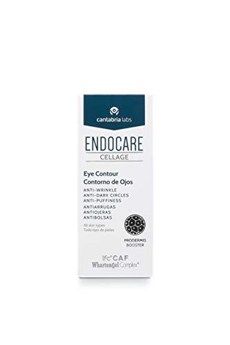 Endocare Cellage Contorno de Ojos - Crema Antiarrugas, Antiojeras, Antibolsas, Nutritiva, Redensificante y Drenante, Disminuye las Ojeras Oscuras, 15ml