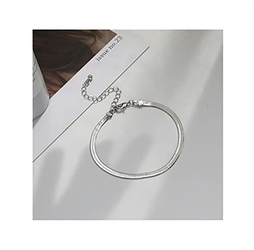 HAHADONG Pulsera de Cadena de Hueso de Serpiente Simple, Temperamento versátil, diseño de nicho, Pulsera Sensual, Pulsera Femenina-B