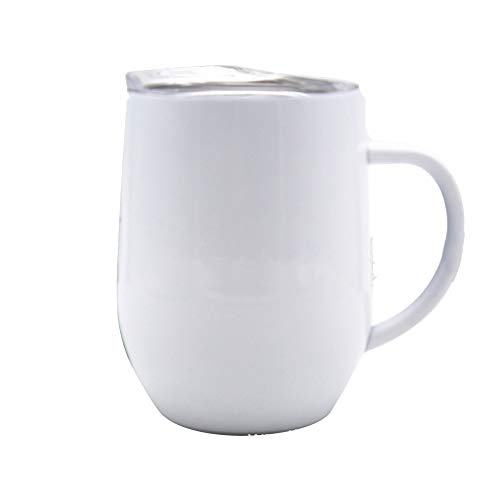 Pvnoocy Edelstahl Thermobecher 350 ml, Isolierbecher, Trinkbecher, Kaffeetasse, 100{c560497ffad5ef61c935639b081569c2de37bc3a929fa0fe699cd20e6b7c1a52} Auslaufsicher, Deckel mit Trinköffnung, doppelwand Isolierung Kaffee to go