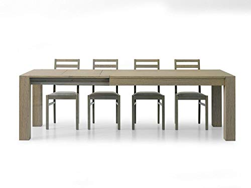 Fashion Commerce - Mesa Extensible, de Madera cepillada