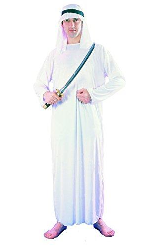 FIORI PAOLOrabe Disfraz Adulto Mens, color blanco, talla 5254, 62045