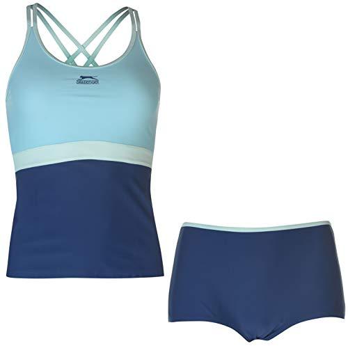 Slazenger - Tankini para mujer azul marino M
