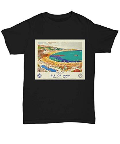 cgo Vintage British Travel Poster: Douglas Bay Isle of Man Camisetas y Tops(X-Large)