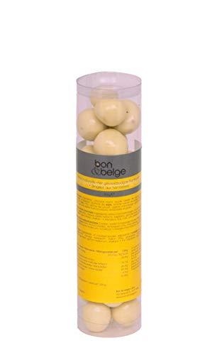 Witte chocolade gevuld met gevriesdroogde framboos - artisanaal - 200 g
