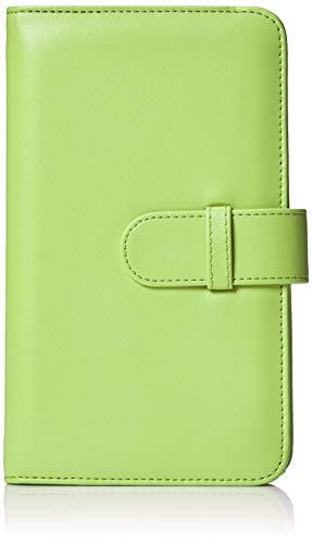 AmazonBasics - Álbum tipo billetera para 108 fotos Instax Mini, color verde lima