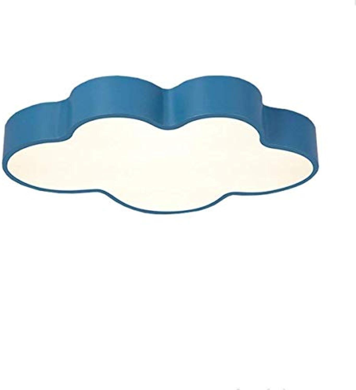 Kreative Cartoon Wolken Licht reizendes Baby Kinderzimmer helle und freundliche Zimmer für Jungen und Mdchen an der Decke lampe leuchtet (500  330  80mm) 28W, wei und blau