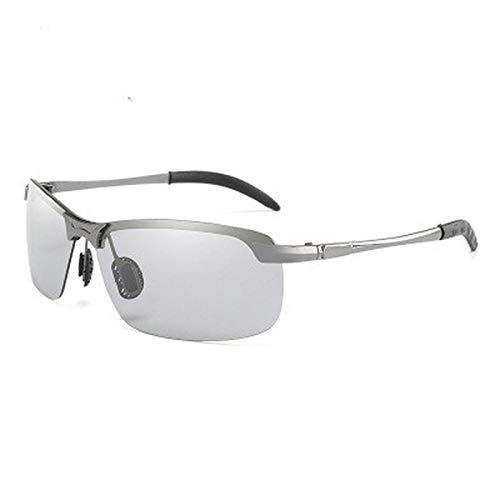 NIUASH Sonnenbrille polarisiert Photochrome Sonnenbrille Männer Polarisierte Fahrbrille Männlich Farbe ändern Sonnenbrille Tag Nacht Fahrbrille