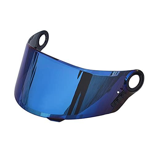 Moochy Capacetes de proteção contra vento anti-UV anti-riscos para motocicleta Substituição da viseira de lente para LS2 FF358 FF396