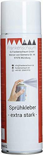 Frankenschaum Kraft-Sprühkleber für Schaumstoffe, Stoffe, Akustik, Filze und zum Basteln