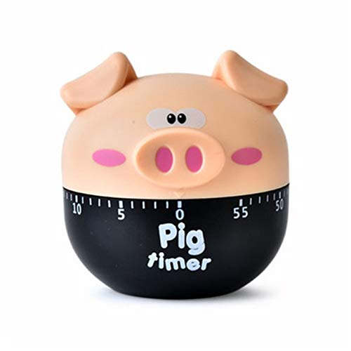 Startseite Owl Küchen-Dekor Owl Timer 60 Minute Rosa Küchenhelfer Eieruhr Kochen Mechanische Countdown-Timer (Color : Green)