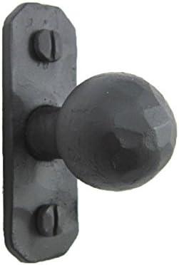 Iron door knobs cast cabinet Tortoise drawer handles pull rustic hardwa 6pcs