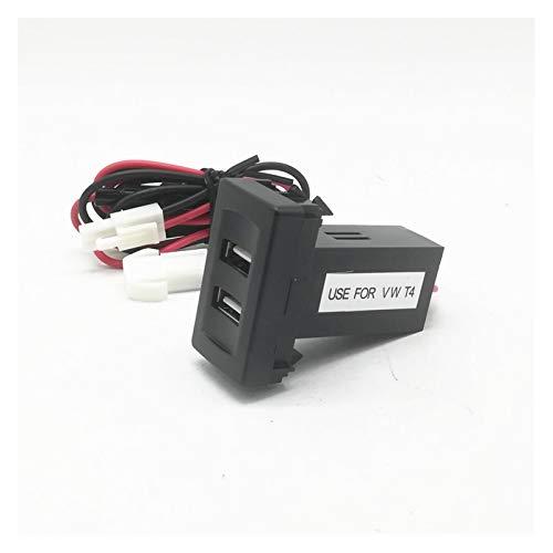 XIAOSHI Little Oriental Cargador de automóviles Dual USB Auto Car Charger Ehicle Power Inverter Converter Fit para Volkswagen Fit para VW T4 Cargador de Coche Cargador Especial Coche (Color : 1pcs)