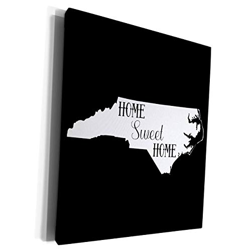 Unframe Canvas Printing Wall Art 40x50 Stamp City Home Sweet Home Inside The State Of North Carolina. Black Background. Framed Canvas Art Picture Print Wall Decoration for Living Room/Bed Room