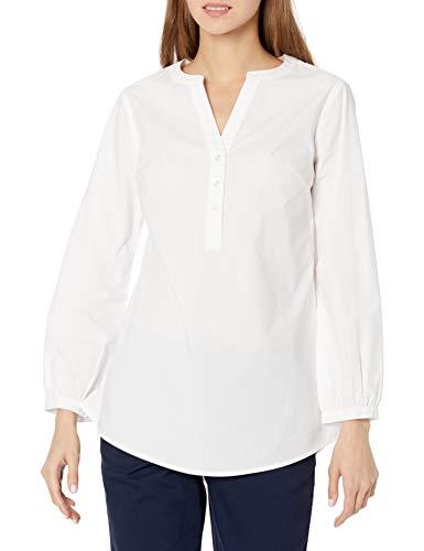 Amazon Essentials Classic-Fit Bracelet Length Sleeve Poplin Shirt Camisa, Blanco, XL