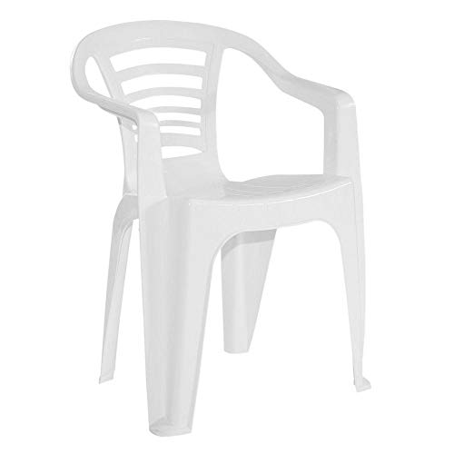 Cadeira Poltrona De Plastico Natal Branca