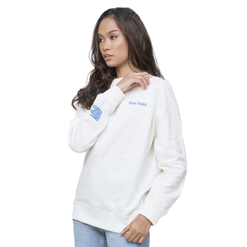 Pepe Jeans Jeans, Blanco (Mousse 808), Small para Mujer