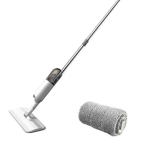 Luccase Spray Bodenwischer Mop 126 × 38 × 12 cm Bodenwasser Quick Mop mit Wiederverwendbarem Mikrofaserpolster und 360-Grad-Moppgriff Wasserspray Mop für Alle Bodentypen (A)