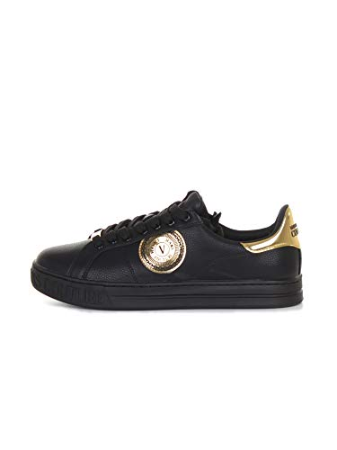 VERSACE JEANS COUTURE Sneakers Fondo Court Uomo Nero 42 EU