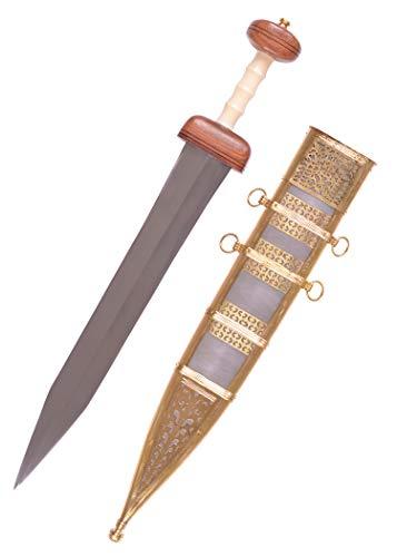 Battle-Merchant Gladius aus Mainz, 1. Jahrhundert n. Chr. inkl. Scheide - 74cm - Römer Schwert aus Metall Erwachsene