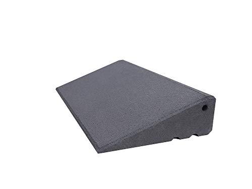 Türschwellenrampe Excellent 500/95 mm hoch aus Gummigranulat hochverdichtet (grau)