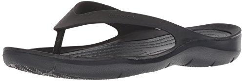Crocs Women's Swiftwater Flip W Flop, black/black, 11 M US