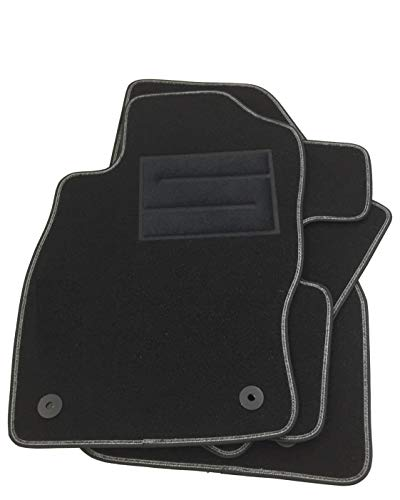 ASC Alfombrillas para Corsa D-E 2006 2019 con botones y talonera