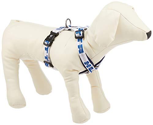Hurtta Hundegeschirr, gepolstert, Neopren, Y-Form, Blau / Weiß, Größe 1, für Hunde Y Go Finland Blau / Weiß, Größe XS