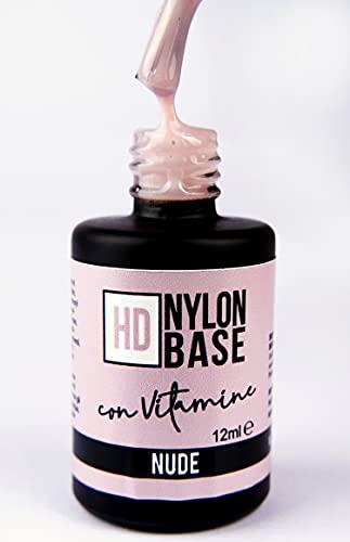 NUDE - Base soak off modellante rinforzante unghie con FIBRE di Nylon, vitamine e calcio - Tecnica SEMIPERMENTE con RINFORZO -12ml | Beauty Space nails