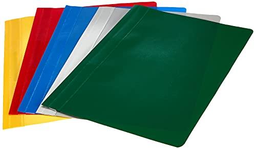 Oxford Schnellhefter A4, aus Kunststoff, farbig sortiert, 10er Pack