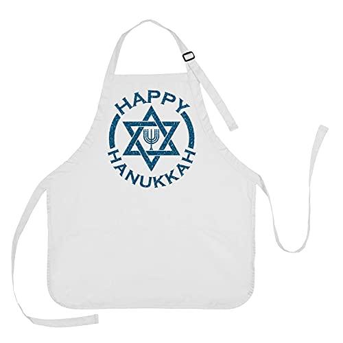DKISEE Happy Hanukkah Baking Apron, Happy Hanukkah Cooking Apron, Hanukkah Apron, Hanukkah Gift, Happy Hanukkah Apron