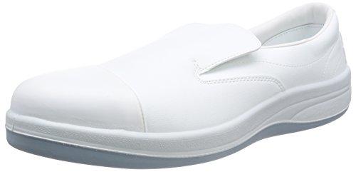 [ミドリ安全] 静電安全靴 クリーンルーム向け トゥキャップ付き スリッポン SCR1200 フルCAP メンズ ホワイト JP 23.5(23.5cm)