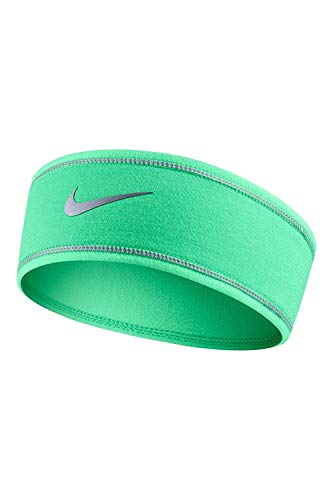 Nike Women's Run Flash Headband, Green Glow/Reflective Silver/Reflective Silver