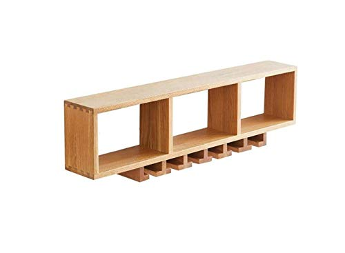 mlzaq Creative elephant decoration partition wine rack decoration living room TV cabinet wine cabinet resin craft, art bottles,38 * 90 * 15,Walnut (Color : 30 * 60 * 15, Size : Wood)