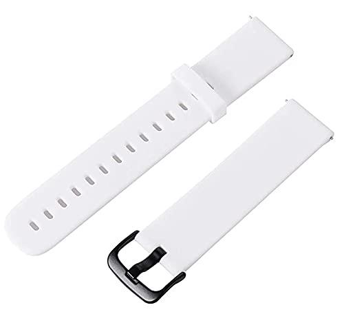 2 Piezas Correa de Silicona para Reloj Inteligente Reemplazo de Pulsera Ajustable Suave Silicona Pulsera Impermeable 20mm para XIAOMI, HUAWEI - 1 Negro + 1 Blanco