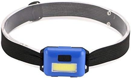 Luce frontale Luce della lampada regolabile campeggio della torcia Mini faro a LED 3 Modalit/à fari Emitting Color : Black