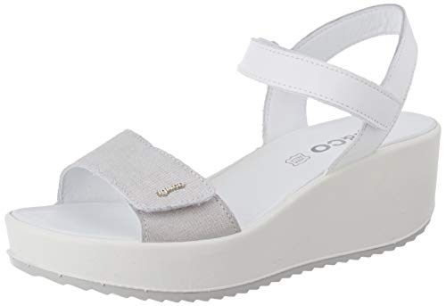 IGI&Co Damen Sandalo Donna Dcd 51781 Plateau Sandalen, Weiß (Ghiaccio 5178133), 38 EU
