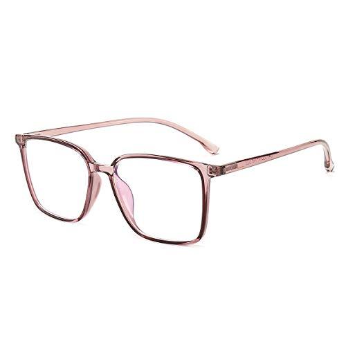Blaulichtfilter Brille ComputerBrille Pc Gaming Blueblocker Glasses Anti Blaulicht Brille Ohne Sehstärke Damen Herren Durchsichtig Rosa