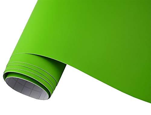 Neoxxim 24,22€/m2 Premium Auto Folie - GRÜN Lime MATT 30 x 150 cm - blasenfrei mit Luftkanälen ca. 0,15mm dick Folierung folieren bekleben