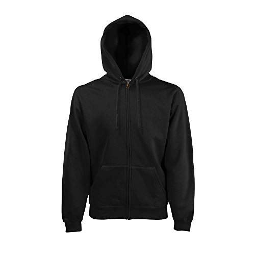 Fruit of the Loom - Hooded Sweat Jacket - Modell 2013 / Black, XXL XXL,Black