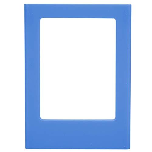 Imán de plástico para nevera, mini marco de fotos, imanes de nevera Polaroid, para decoración de fotos(Sea water dark blue)