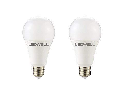 E27 16 W set van 2 warmwit LED-lamp 1250 lumen 3000 Kelvin spaarlamp gloeilamp energieklasse A+
