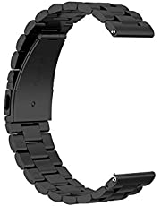 KNY Huawei Watch GT2 Pro 46mm (22mm) İçin Klasik Model Metal Kayış-Kordon Siyah