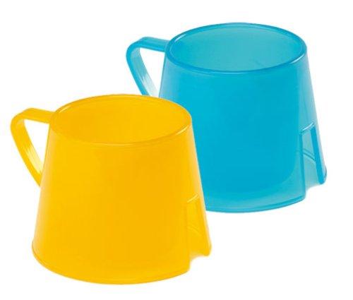 Vital Baby 49801 - Taza de aprendizaje (2 unidades), color amarillo y azul
