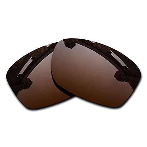 SYEMAX Lentes de repuesto para espejo polarizado, compatibles con Oakley Jupiter Squared (OO9135) Sunglass - Múltiples opciones, (Polarizado marrón bronce.), Talla única