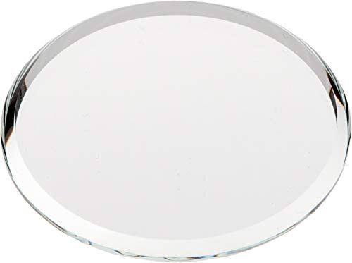 Plymor Round 3mm Beveled Glass Mirror, 2 inch x 2 inch (Pack of 3)