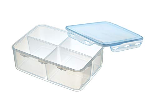 KitchenCraft Pure Seal Air Tight Food Storage Container with Lid and Divided Compartments, BPA Free Plastic, 5.2 L