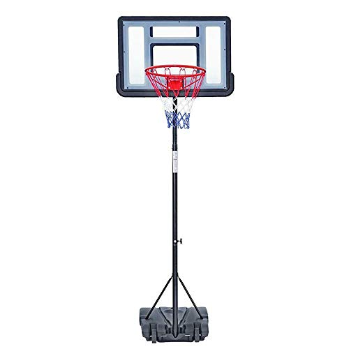 Find Discount TimmyHouse Portable Adjustable Height Outdoor Basketball Hoop Backboard System 7Ft w/W...