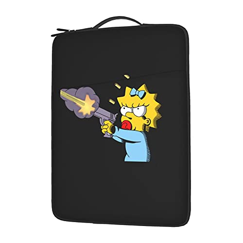 The Simpsons Laptop Sleeve Case Notebook Computer Slim Computer Carry Bag Waterproof Protective Cover with Pock 15.6 Inch