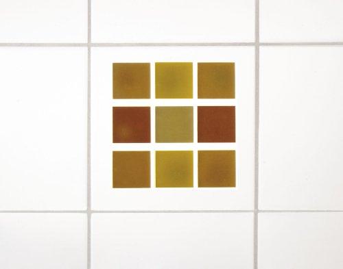 Wenko 18458100 3D-Fliesendekor Mosaik Terra - 6-er Set, rückstandslos ablösbar, je 10 x 10 cm