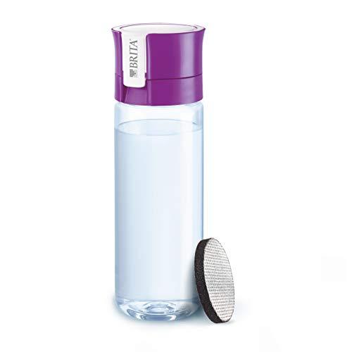 BRITA fill&go Vital – Botella con filtro de agua con tecnología MicroDisc – agua de excelente sabor para disfrutar en cualquier lugar – Botella de agua sin BPA de color lila